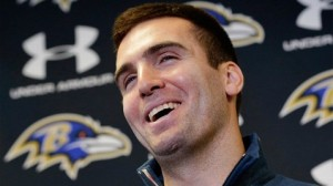 Flacco after signing his 100 million dollar contract